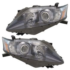 10-12 Lexus RX450h Halogen Headlight Assembly Pair