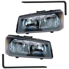 05-07 Chevy Silverado Headlight Pair with Mounting Pins