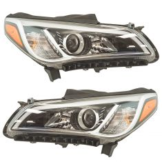 15-17 Hyundai Sonata Halogen Headlight Pair