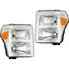 11-16 Ford F250 F350 Super Duty Headlight Pair