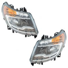 14-17 Ram Promaster 1500-3500 Van (w/o Daytime Running Lights) Halogen Headlight Assy PAIR