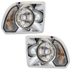 02-18 Freightliner 108SD Headlight Assembly PAIR