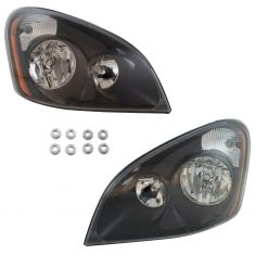 08-16 Freightliner Cascadia Performance Headlight w/Black Housing PAIR