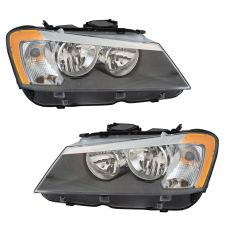 11-14 BMW X3 Halogen Headlight Pair