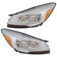 13-16 Ford Escape Halogen Headlight Pair