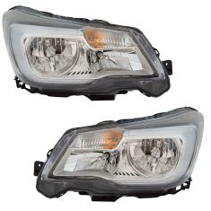 17-18 Subaru Forester Halogen Headlight Pair