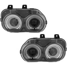 15-18 Dodge Challenger Halogen Headlight Pair