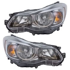 15-16 Subaru Impreza Halogen Headlight Pair