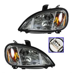 05 (from 04/04)-11 Freightliner Columbia Headlight Assy PAIR