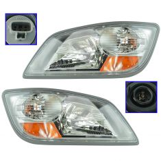 06-14 Hino 1, 2, & 3 Multifit Heavy Duty Truck Series Headlight Assy PAIR (Dorman)