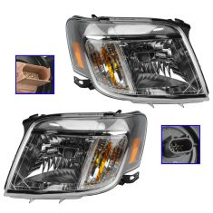 08-11 Mercury Mariner Halogen Headlight PAIR (Ford)