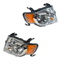 08-12 Ford Escape Headlight Assy (w/Clear Background) PAIR (Ford)