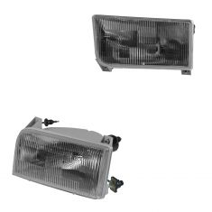 92-96 Ford Bronco, F150; 92-97 F250, F350, F450 Headlight Globe Pair (Ford)