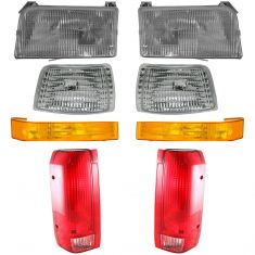 92-96 Ford PU Head and Styleside Tail Light Set