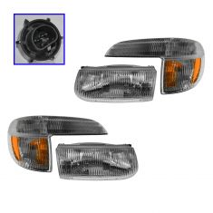95-01 Ford Explorer; 97 Mountaineer Headlight & Parking Light SET