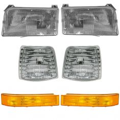 92-97 Ford PU Truck & Bronco Headlight & Parking Light Kit (SET of 6)