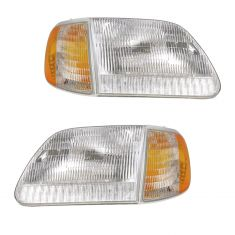 97-02 Ford Expedition; 97-03 F150; 97-99 F250 Headlight & Parking Light Kit (4 Pieces)
