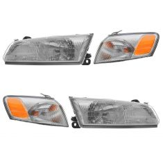 97-99 Camry Headlight & Side Marker Kit