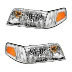 98-08 Crown Vic Headlight & Side Marker Light Kit