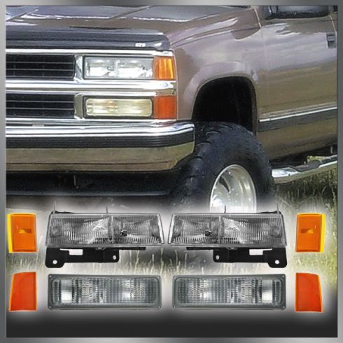 How to install replace headlight 92 98 chevy silverado suburban 90 93 chevy truck and suv headlight turn signal parking light kit freerunsca Images