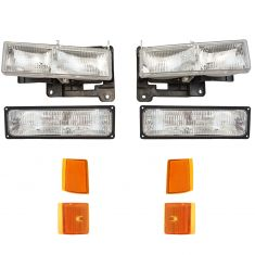 94-02 GMC Jimmy Yukon CK Truck Headlight, Parking & Turn Signal Light Set