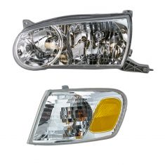 01-02 Corolla Headlight & Park Lamp Turn Signal Set LH