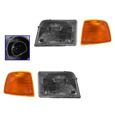 1993-97 Ford Ranger Headlight & Park Light Set