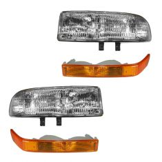 98-04 S10, S15 Pickup; 98-05 Blazer, Jimmy Headlight & Corner Light Kit (Set of 4)