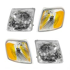 01-03 Ford Explorer Sport; 01-05 Explorer Sport Trac Headlight & Park Light Kit (Set of 4)