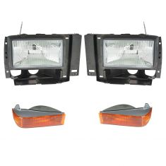 89-90 Ford Bronco II; 91-94 Explorer; 89-92 Ranger Headlight & Parking Light Kit (Set of 4)