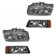 03-04 Chevy Avalanche 1500, Silverado Headlight & Parking Light