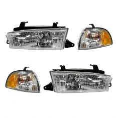 97-99 Subaru Legacy Headlight & Corner Light Kit (Set of 4)