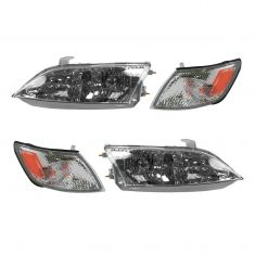 97-99 Lexus ES300 Headlight & Corner Light Kit (Set of 4)