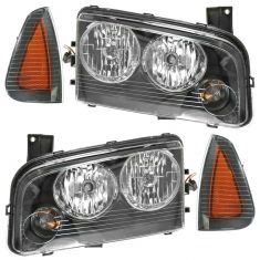 06-07 (11/08/06) Dodge Charger Headlight & Corner Light Kit (Set of 4)