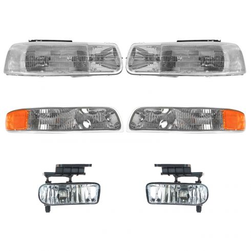 99-06 Chevy, GMC  Pickup/SUV Headlight, Parking Light, & Fog Light Kit (Set of 6)
