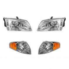 00-02 Mazda 626 Headlight & Corner Light Kit SET of 4