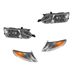 2002-03 Toyota Solara Headlight & Corner Parking Light SET of 4
