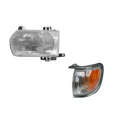 96-99 Pathfinder Headlight & Corner Light Chr Kit LH