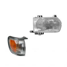 96-99 Pathfinder Headlight & Corner Light Chr Kit RH