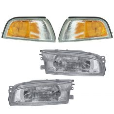 1997-02 Mitsubishi Mirage Sedan Headlight & Turn Signal Light SET