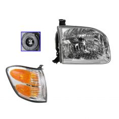 01-04 Sequoia Headlight & Corner Light RH