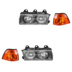 92-99 BMW 3 Series Headlight & Corner Light Kit