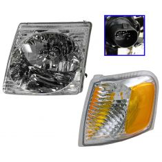 2001-05 Explorer Sport & Sport Trac Headlight & Side Marker Light Kit Driver Side