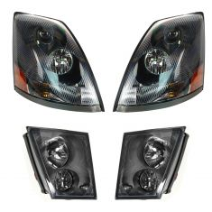 03-11 Volvo VN/VNL (EX VNL300/VNM200mdl) Headlight & Fog Light Kit
