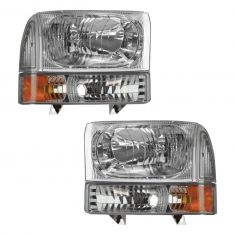 00-04 Ford Excursion; 99-04 F250, F350; 99-03 F450, F550 Clear Headlight & Clear Parking Light Kit