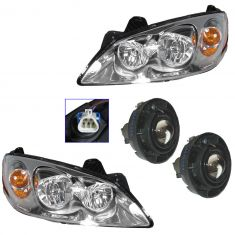 08-09 Pontiac G6 GT (exc Sport) Headlight & Fog Light Kit (Set of 4)
