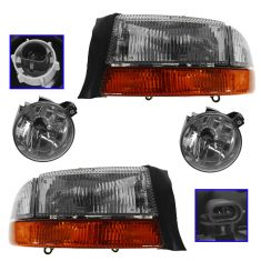 01-04 Dodge Dakota; 01-03 Durango Headlight & Fog Light Kit (Set of 4)
