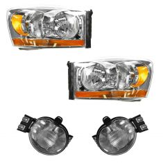 06-09 Dodge Ram Truck Lighting Kit w/ Amber Bar (4 Piece)