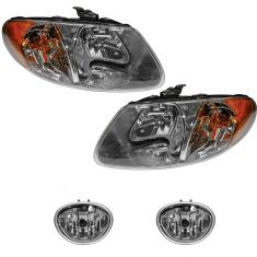 01-04 Chrysler Dodge Mini Van Front lighting kit (4 Piece)