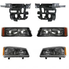 03-04 Chevy Truck SUV Front Lighting Kit (6 Piece)